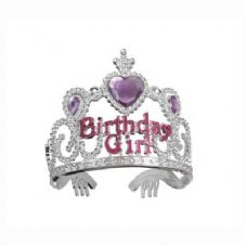 Birthday Girl Tiara with Heart Jewel